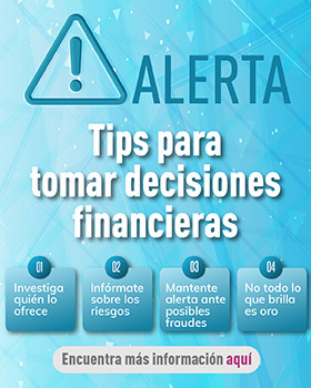 Banner de Tips para tomar decisiones financieras